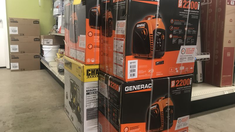 fear of power outages leads to high demand for generators