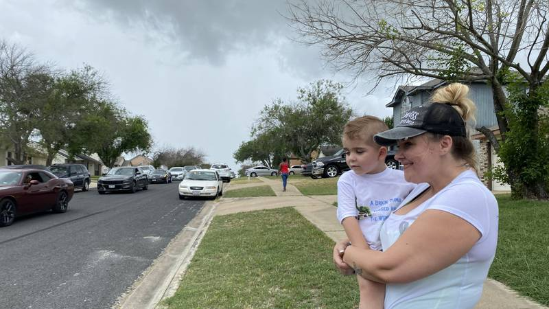Dozens gathered in Killeen Sunday in a truck parade for Rory McCracken, a three-year-old boy...
