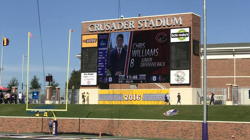 UMHB is replacing its famous video board - doubling the size in the process