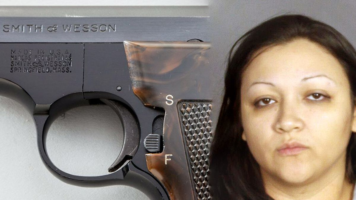 Ashley Cecilia Castaneda and the gun police say she hid in her vagina. (File)