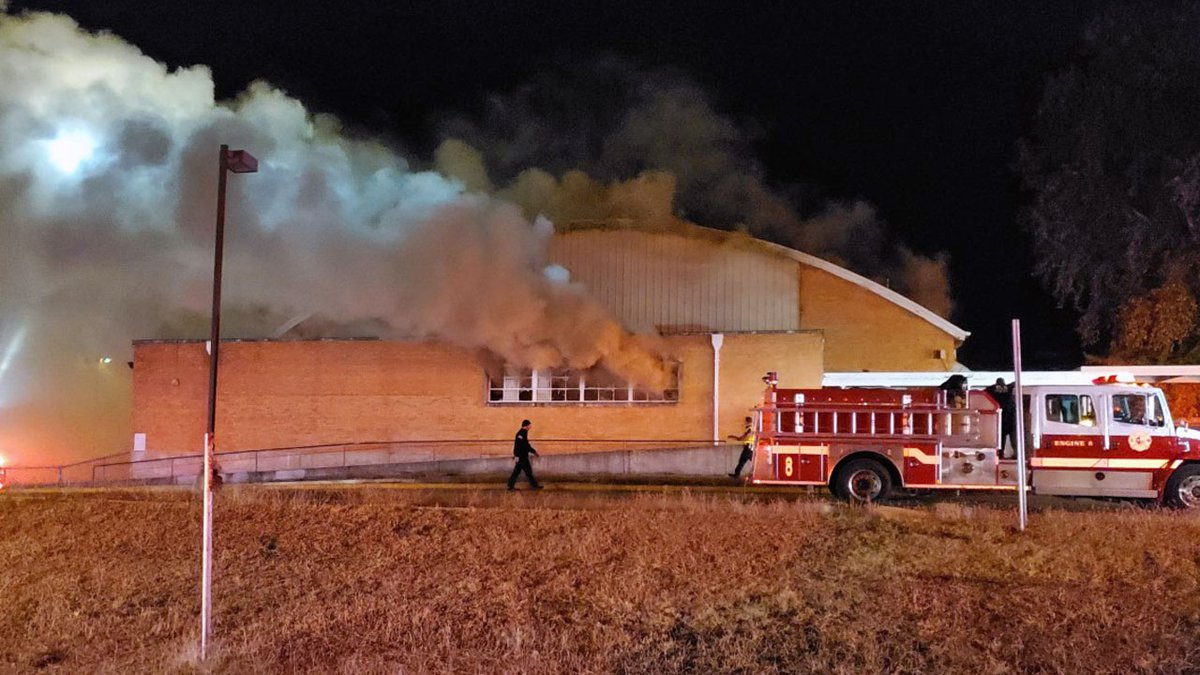 Firefighters remain at the scene of an early-morning blaze that broke out in vacant Killeen...