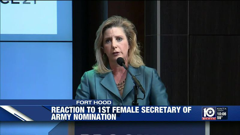 For the first time in U.S. history, a woman will be serving as the secretary of the Army.