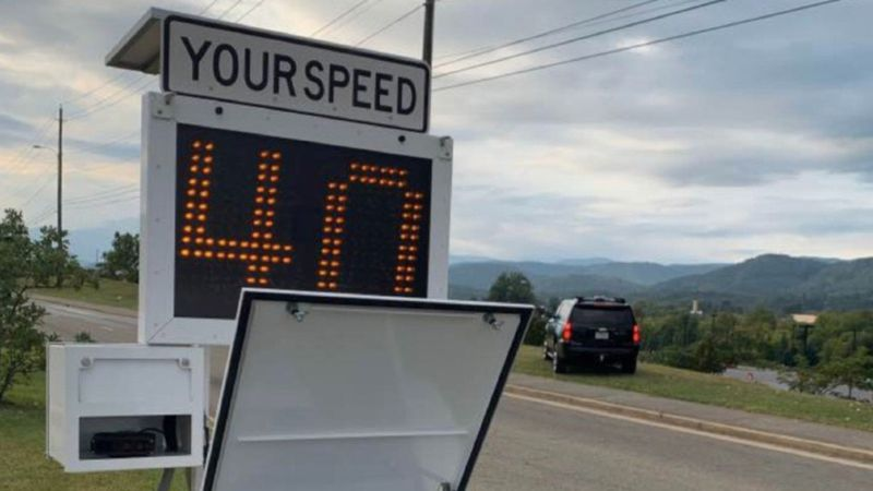 The license plate reader looks much like the radar speed trailers authorities place along...