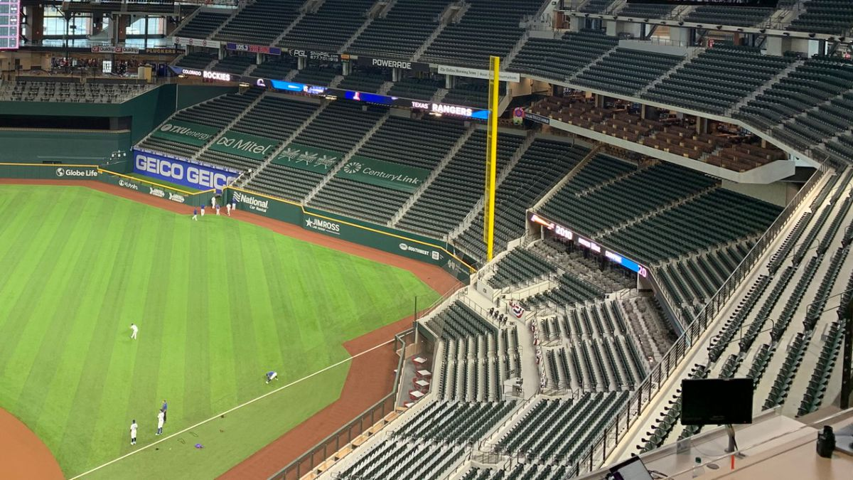 Working Press view at Globe Life Field in Arlington, Texas.