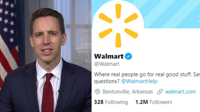 "Walmart apologizes to GOP congressman after tweet from official account called him ""sore loser"""