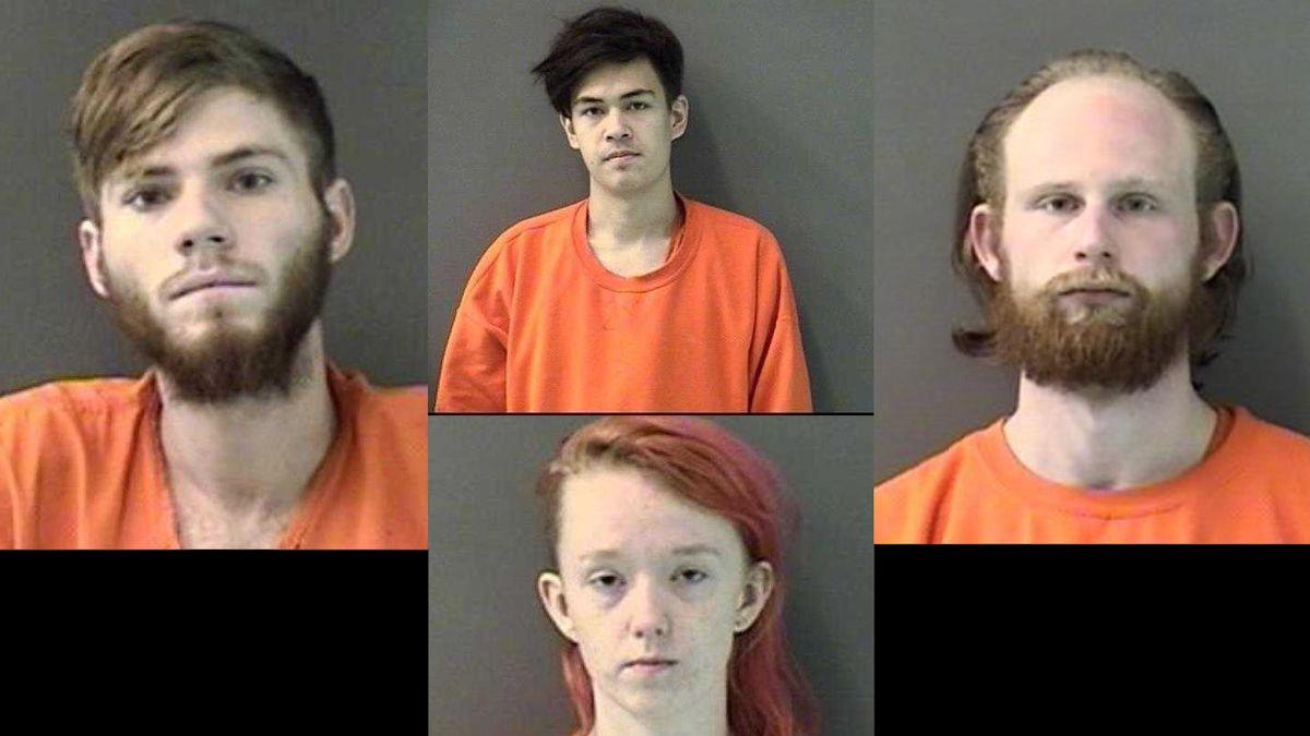 Dakota Castleman (left), Ryan Reed (top center), Logan Stratton (right) and Raven Sizemore...