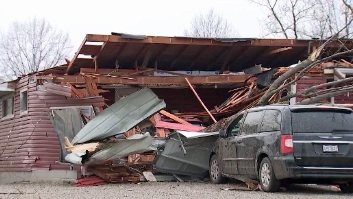 Damage in Shelby, Ohio. (CNN VAN photo)