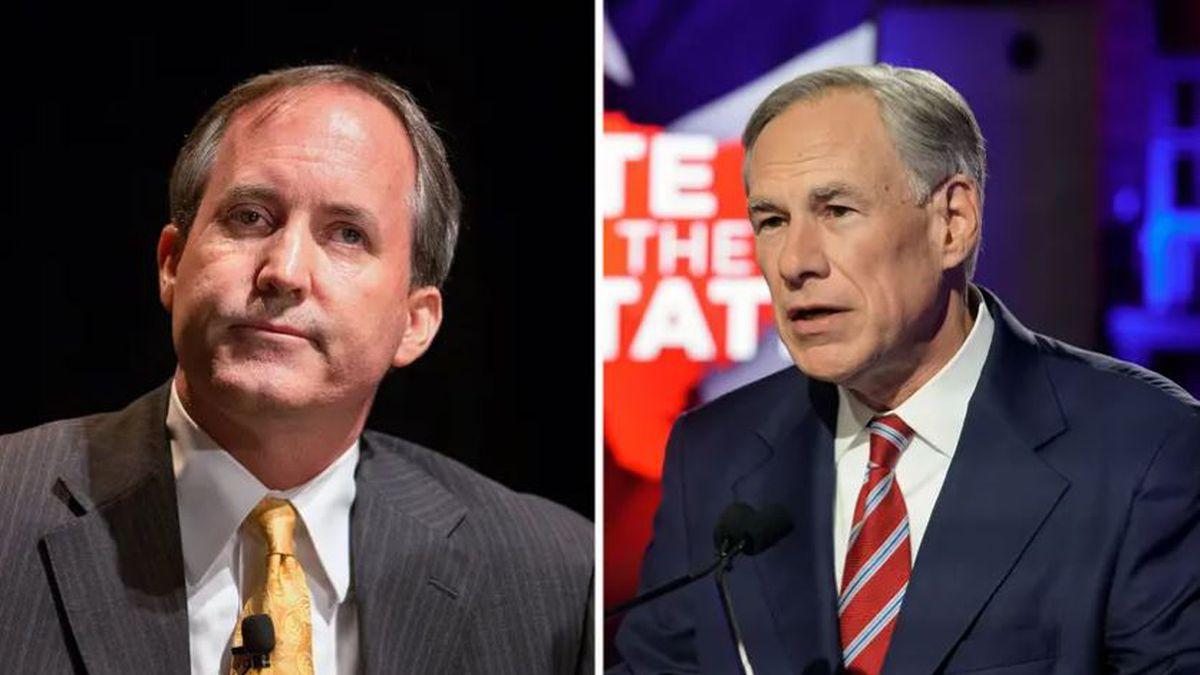 Texas Attorney General Ken Paxton and Texas Governor Greg Abott