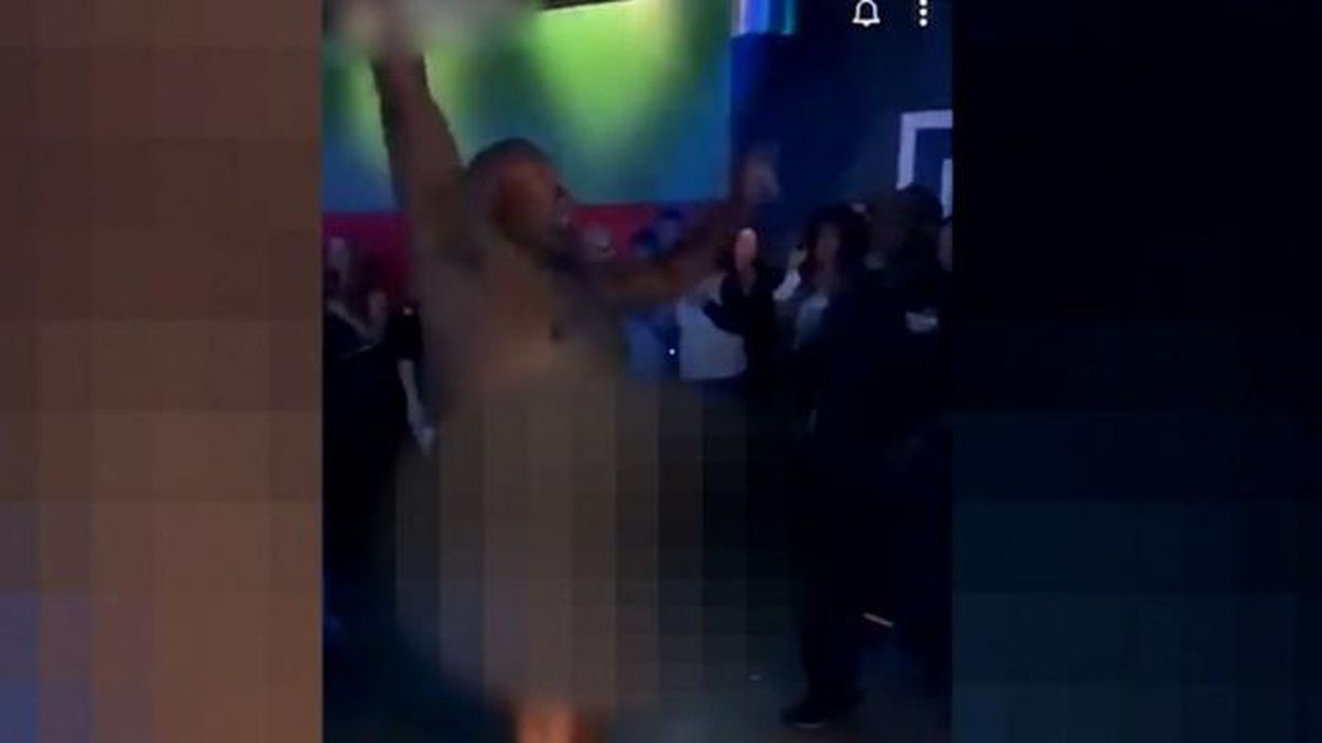 Conway police officer Cebron Hacket was suspended from the force after being caught dancing naked in an Arkansas night club. (Source: KATV/CNN)