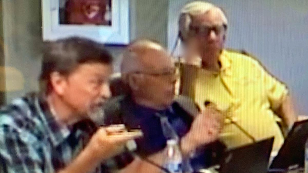Video of the Aug. 13 Copperas Cove council meeting shows Pl. 7 Councilman Charlie Youngs (right) sticking his middle finger up while Pl. 5 Councilman Kirby Lack (left) is talking.