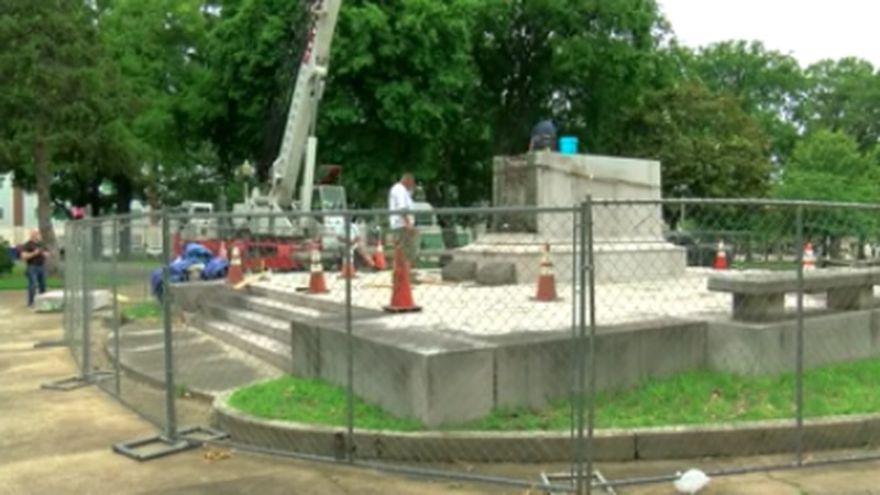 There was confrontation Tuesday as crews started to relocate the Memphis graves of Confederate...