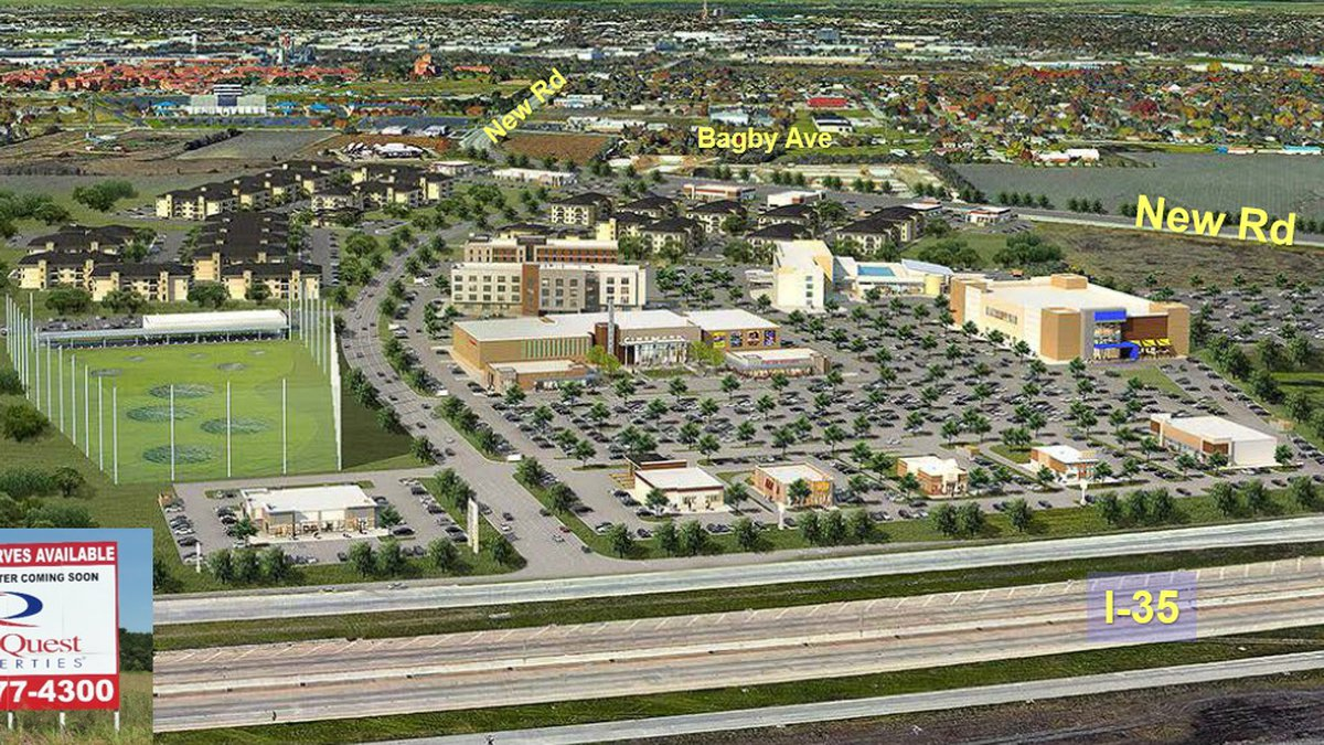 The proposed entertainment development includes a movie theater, a game-style venue, and...