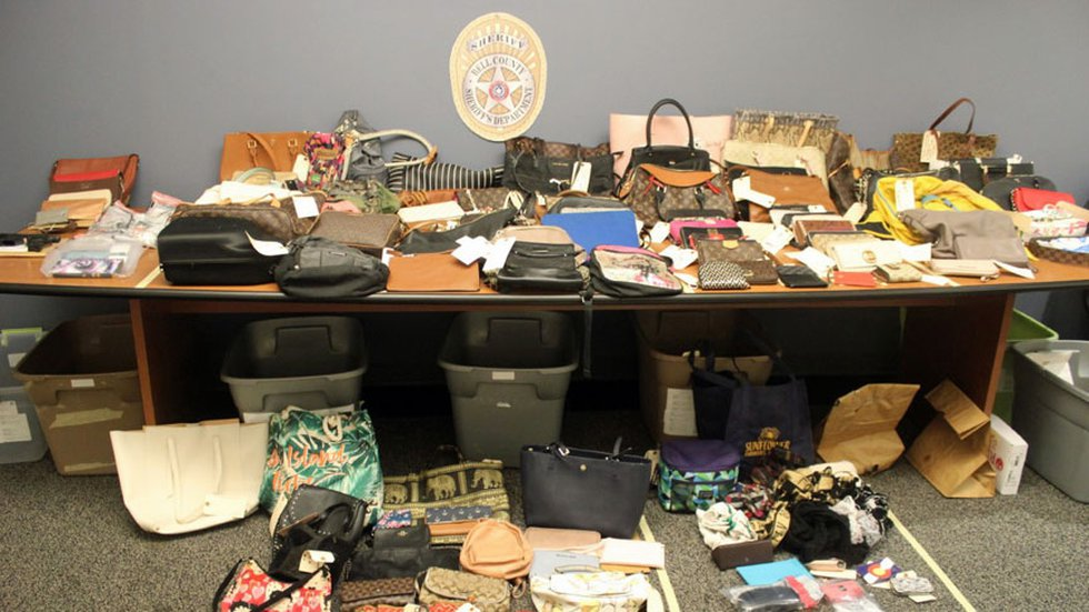 Some of the items deputies recovered after serving search warrants.