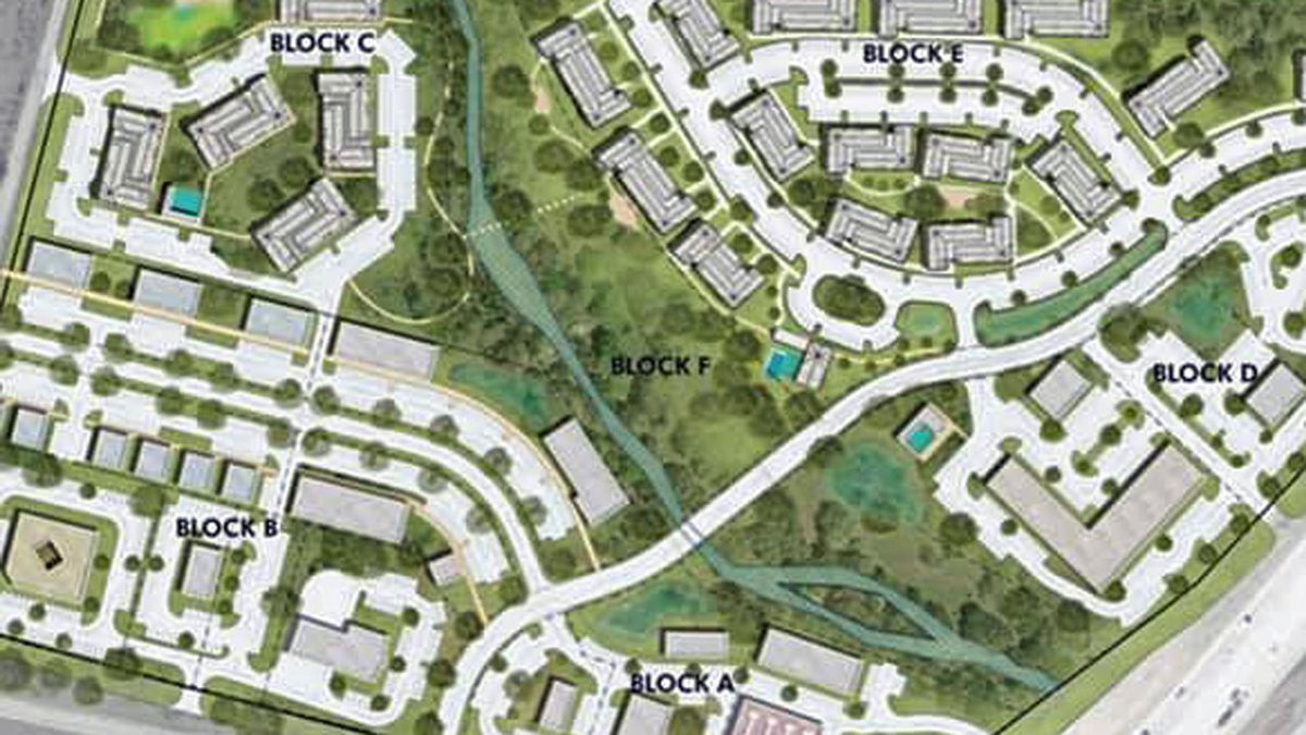 Two developers are hoping to build a commercial complex on a 64-acre site on the north side of...