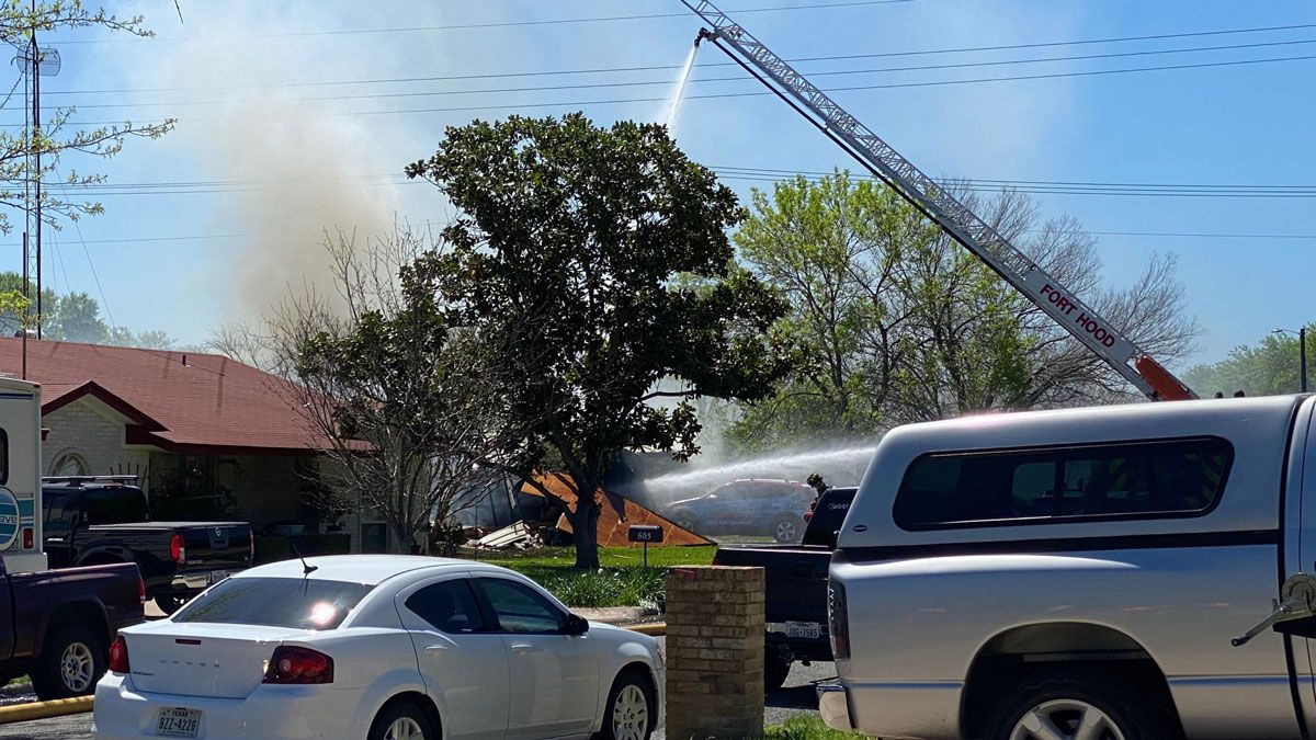 Crews from three area departments responded. (Photo by Eric Franklin)