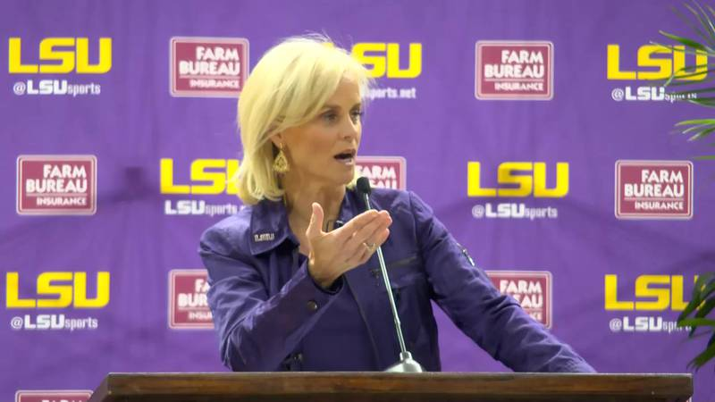 """Championships don't happen overnight, Kim Mulkey told a crowd of LSU supporters, """"but I can..."""