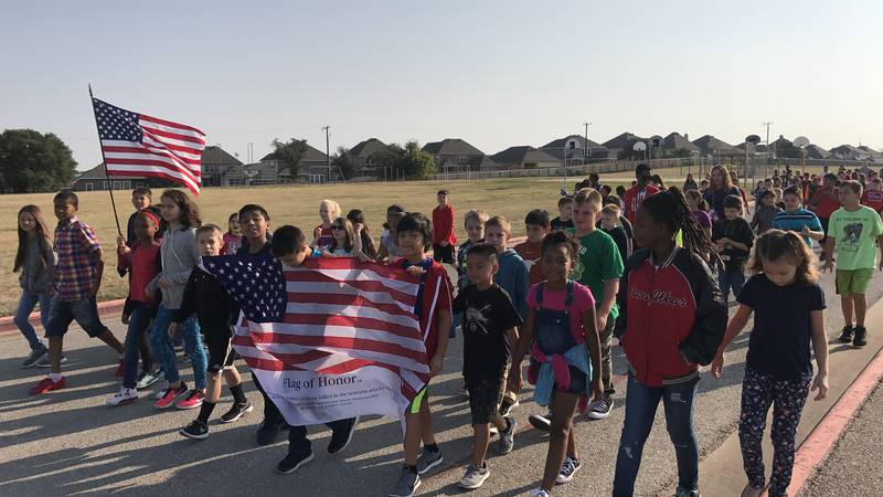 Children at Williams-Ledger Elementary School in Copperas Cove learned the lyrics to a song...