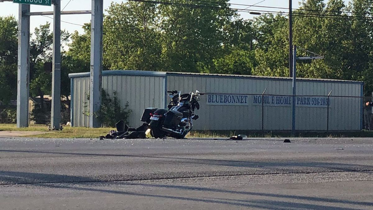 A Central Texas man was flown to a local hospital after he was severely injured in a motorcycle accident Sunday evening. (Photo by Alex Gibbs)