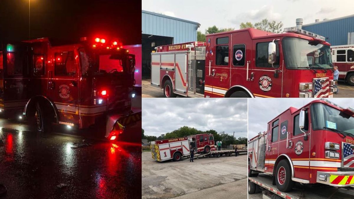 The engine, which was struck by an 18-wheeler on Oct. 29, 2019 (left) is back in service (right).