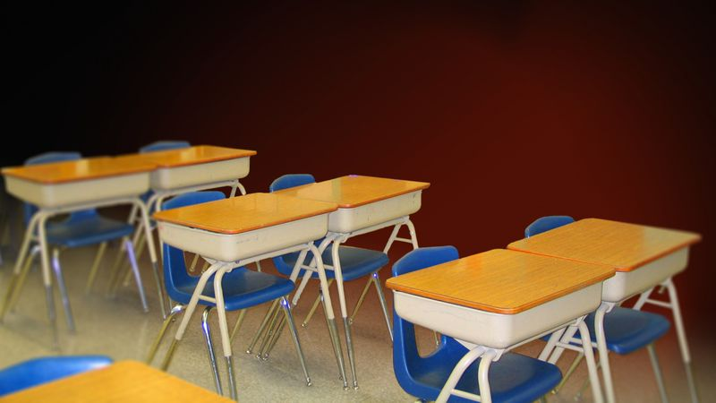 School desks (AP Images)