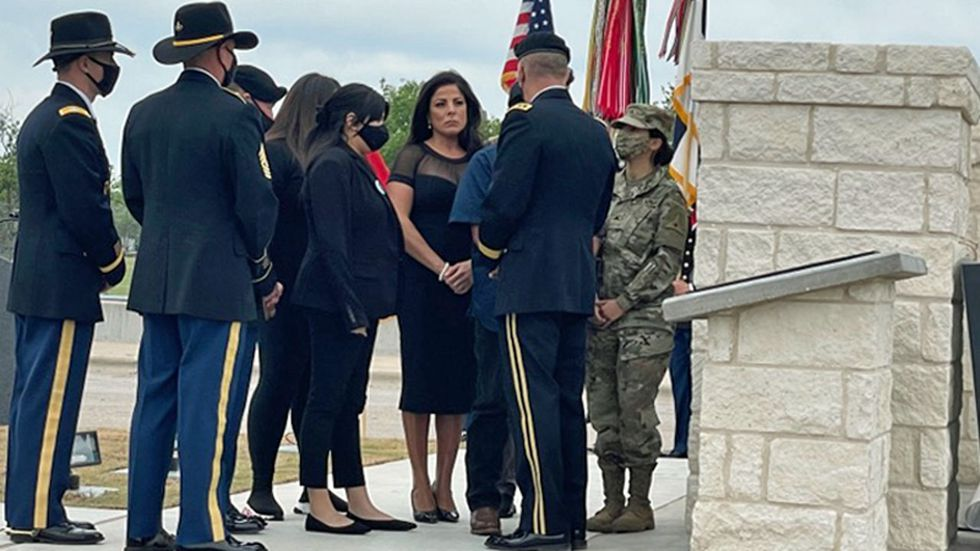 Members of the family of slain Army Spc. Vanessa Guillen attended the dedication ceremony.