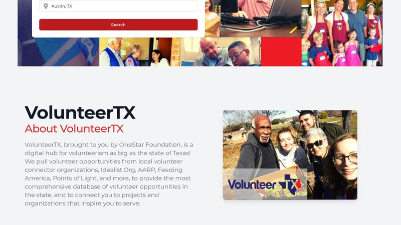 VolunteerTX gathers volunteer opportunities from across the state and puts them all in one place.