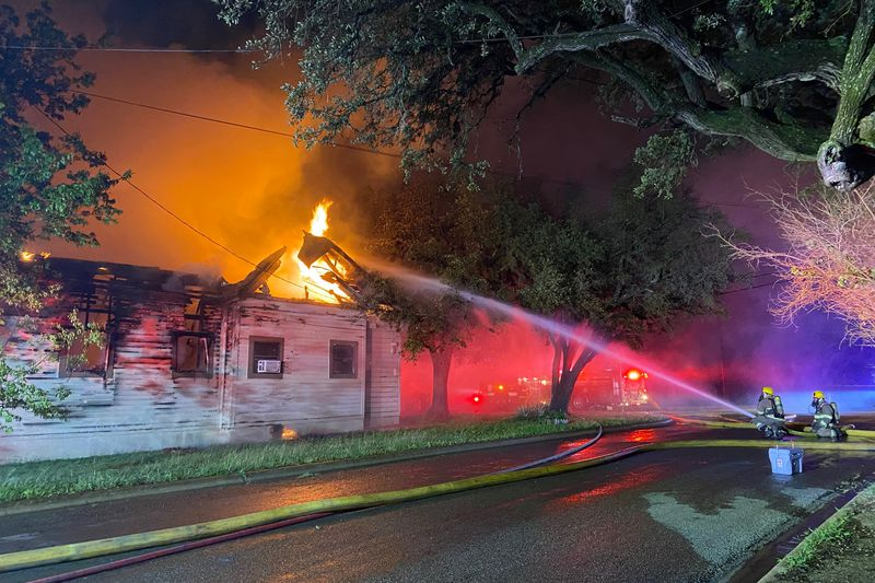 Belton and Salado crews battled the fire in which a 16-year-old boy suffered third-degree burns.