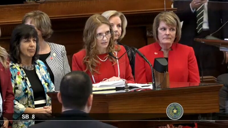 """State Rep. Shelby Slawson, R-Stephenville, discusses the so-called """"Texas Heartbeat Act"""" in the..."""