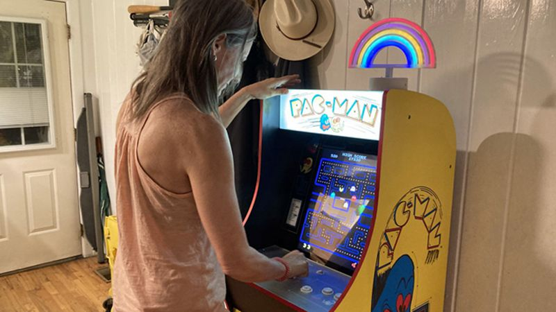 Kristin Hill grew up playing Pac-Man in the 1980s and later bonded with her kids over the video...