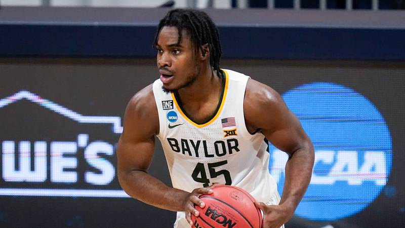 Baylor guard Davion Mitchell (45) plays against Villanova during a Sweet 16 game in the NCAA...
