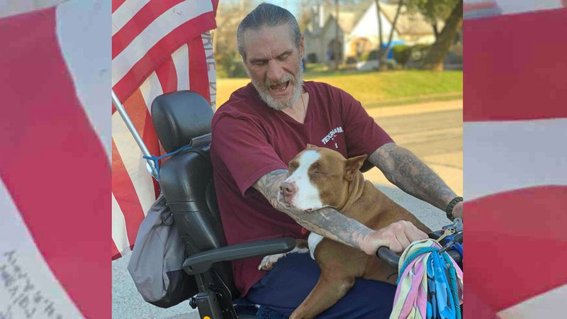 A homeless Central Texas veteran and his dog are no longer homeless thanks to a friendly...