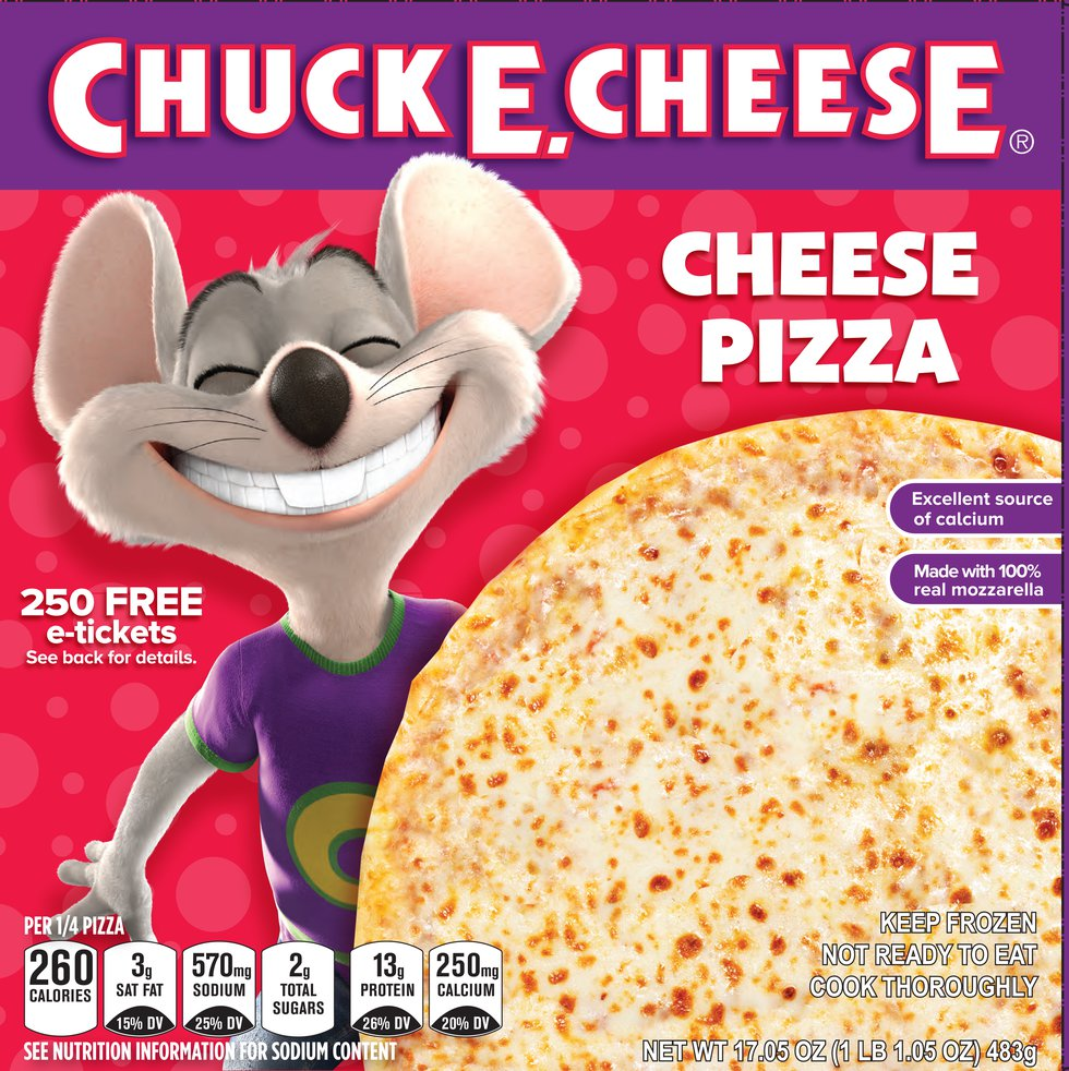 The famous Chuck E. Cheese pizzas are now being sold by Kroger across the country.