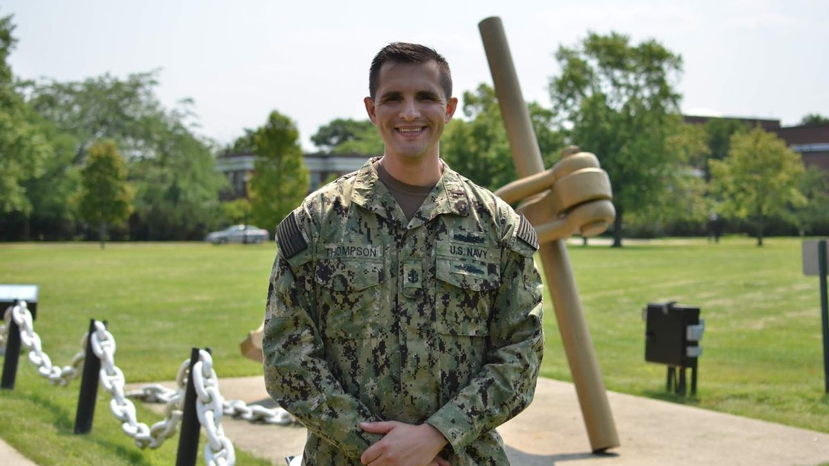 Chief Petty Officer Tyler Thompson serves at Naval Station Great Lakes in Illinois.