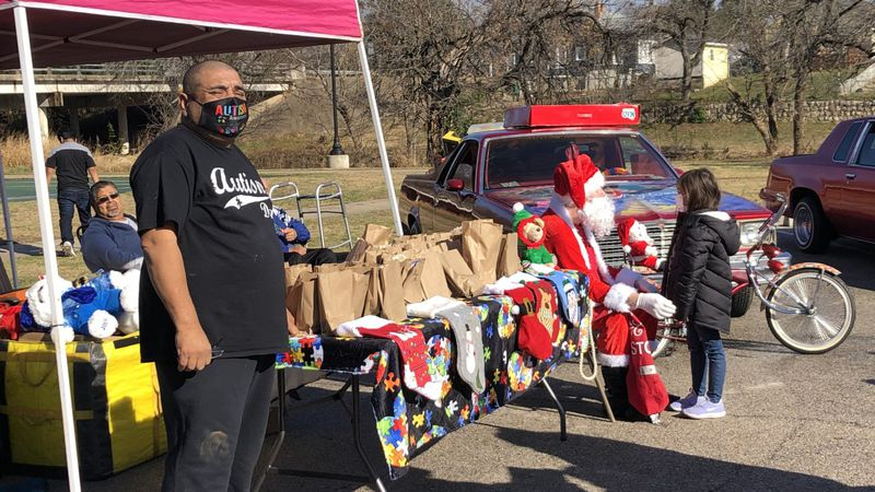 Marty Mendoza, a struggling father who's autistic son was given hundreds of Christmas gifts...
