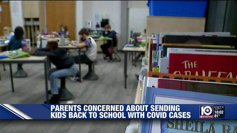 Many parents are questioning the safety of schools as summer winds down because COVID cases are...