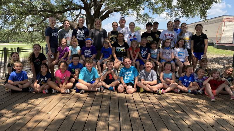 Taylor Rountree, of Goldthwaite, started a bible study/basketball camp for area youth