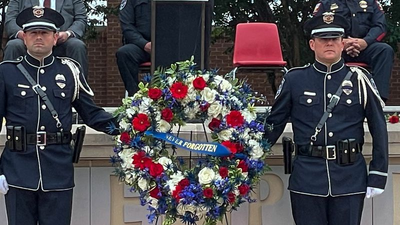 The Temple Police Department hosted a National Police Week memorial ceremony Tuesday.