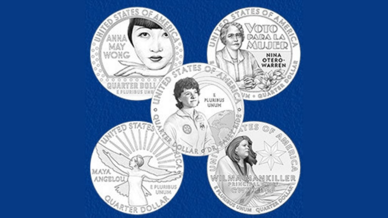 The United States Mint announced the official designs for the first five coins in the American...