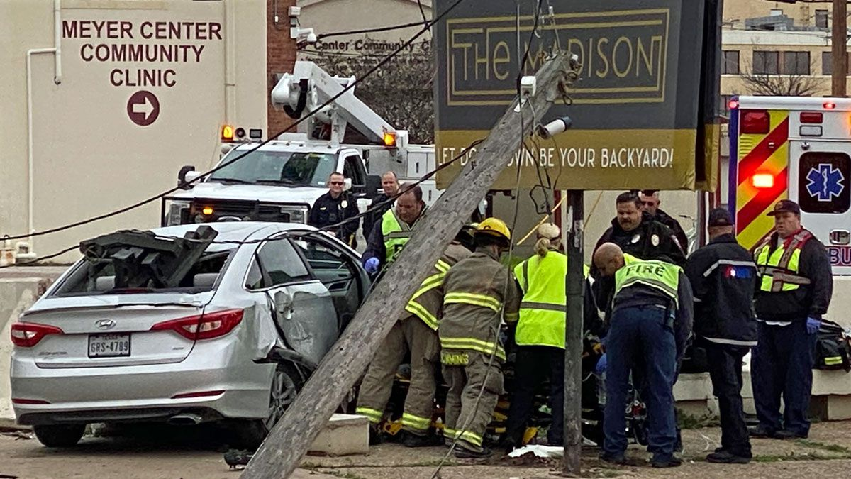The accident happened at around 10:30 a.m. Thursday at the intersection of 13th Street and Austin Avenue. (Photo by Eric Franklin)