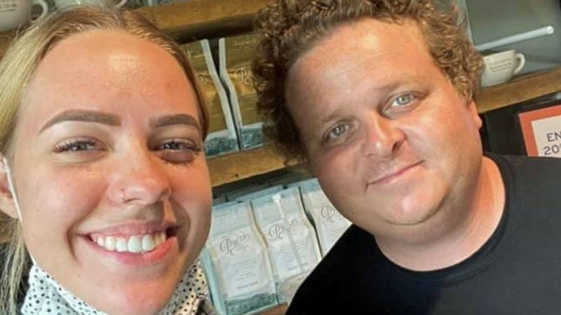 """Patrick Renna agreed to take a selfie with Katie Vana. """"It was so cool,"""" she said."""