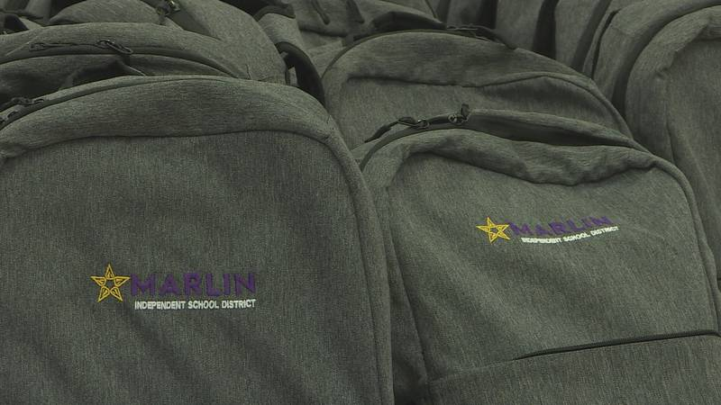 Marlin ISD provided school supplies to all students for free again this year.