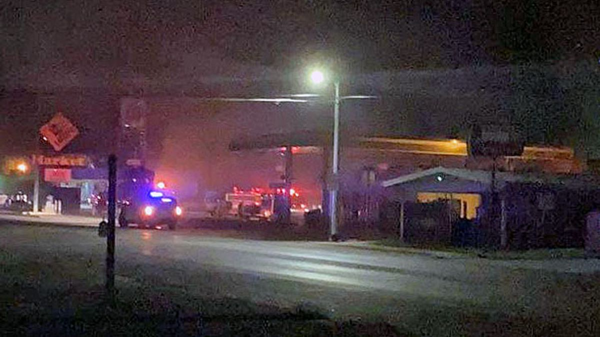 Fire broke out early Friday morning in a grocery store in San Saba. (Courtesy photo)