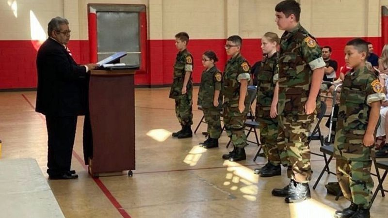 Members of the Heart of Texas Marine Corps League were there to support the graduates as they...