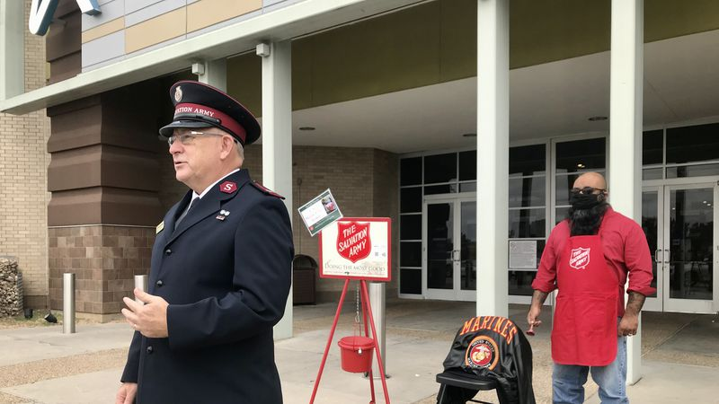 Salvation Army Red Kettle camapaign.