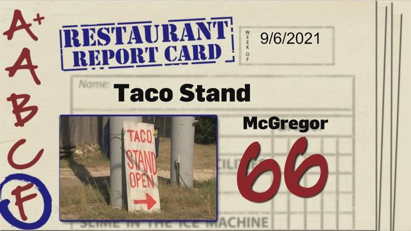 Restaurant Report Card 9.16.21