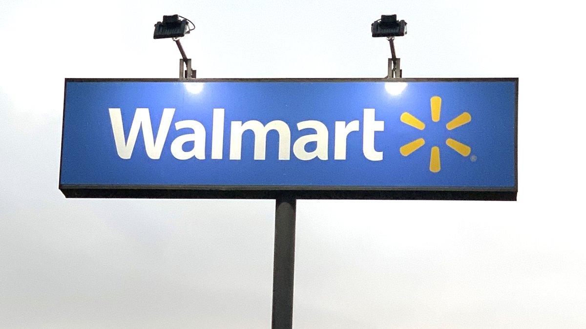 A Walmart sign in Cushing, Oklahoma.