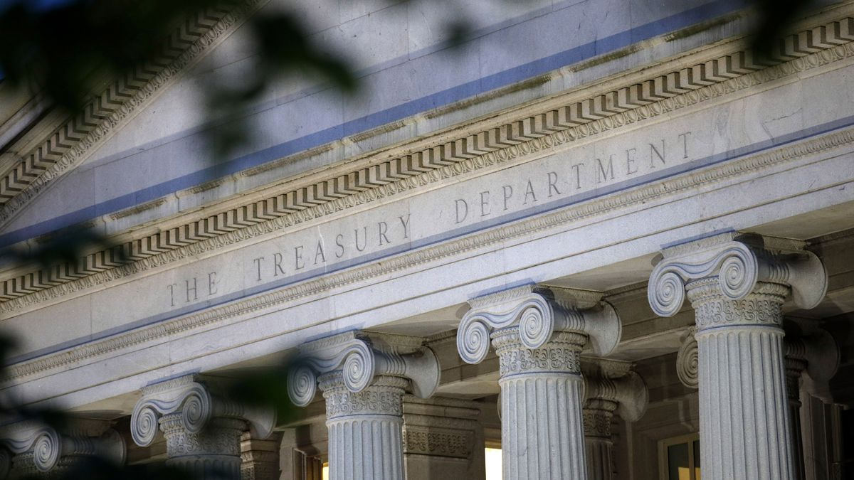 The Treasury Department is projecting government borrowing of $947 billion in the current July-September period. (AP/file)