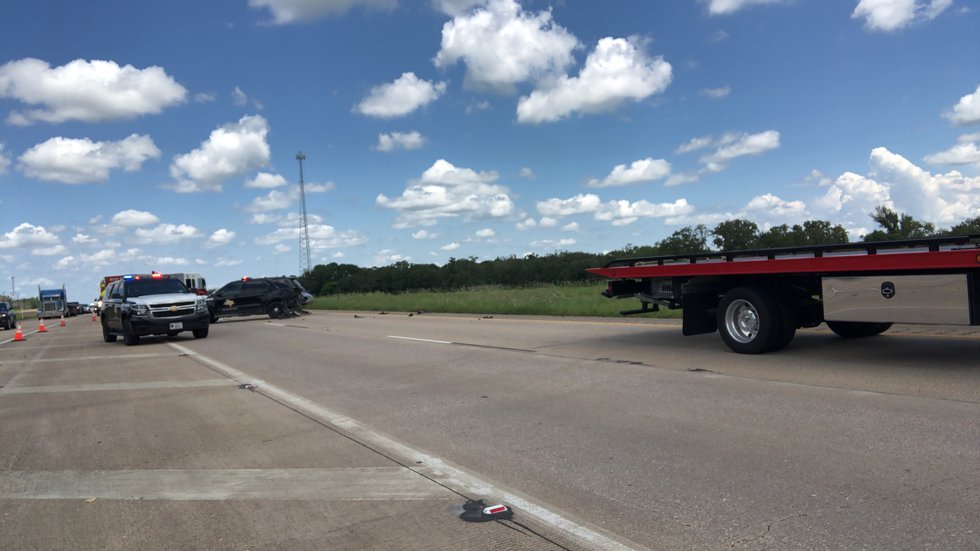 Southbound lanes on highway six shut down Thursday afternoon after an incident there.