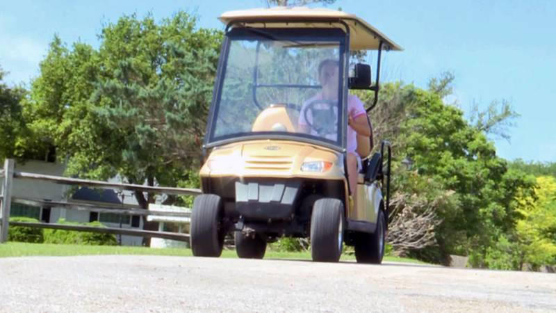 Golf carts are an integral part of Salado's culture; residents use them to travel to nearby...