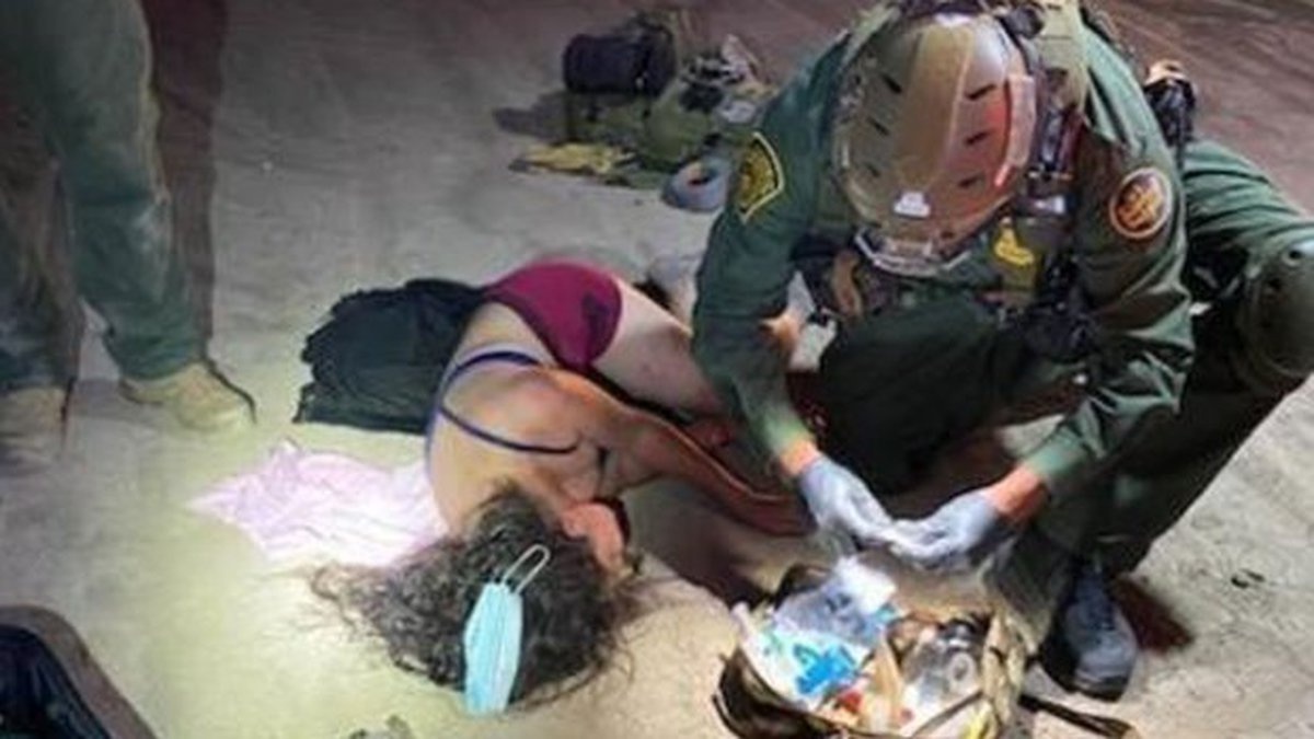 Rio Grande Valley Sector Border Patrol agents rescued a group of migrants from a swarm of bees...